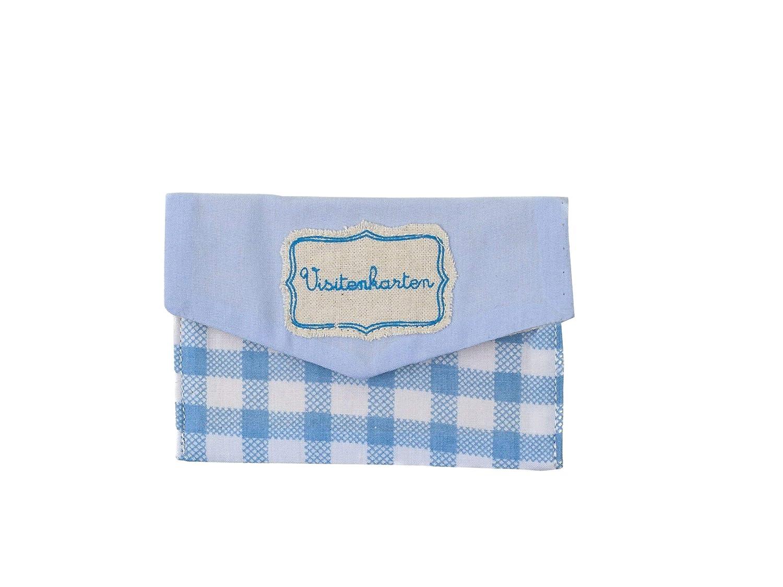 Cute Business Card Holder Wallet Purse Light Blue 6 5 X 10