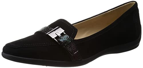 f8f50d331dc2e Geox Women s Kalinda Loafers Black Size  3  Amazon.co.uk  Shoes   Bags