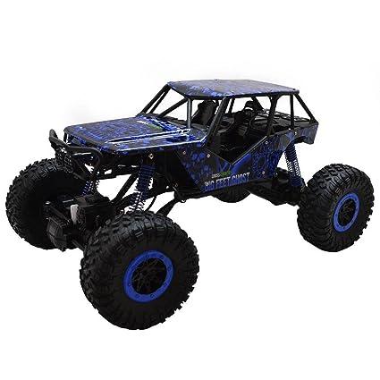 Amazon.com  Unbranded 1 10 Scale 2.4Ghz 4 Wheel Drive Rock Crawler Radio  Remote Control Car Blue  Toys   Games 4e3357ad2d
