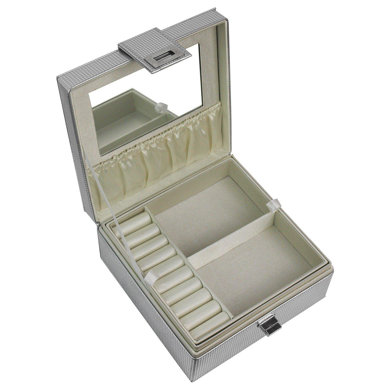 Schmuckbox 21,5 x 14 x 14cm Schmuckkasten Schmuckkoffer Schmuck für Gold Silber