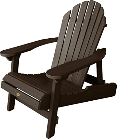 Highwood AD CHL1 ACE Hamilton Folding and Reclining Adirondack Chair, Adult Size, Weathered Acorn