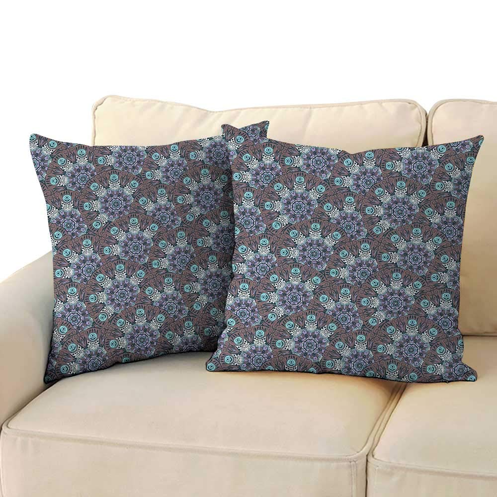 """RenteriaDecor Boho,for Sofa Bedroom Car 20""""x 20""""x2 Oriental Mandala Design with Swirls and Spirals Timeless Motifs from The Middle East Pillow case Covers"""