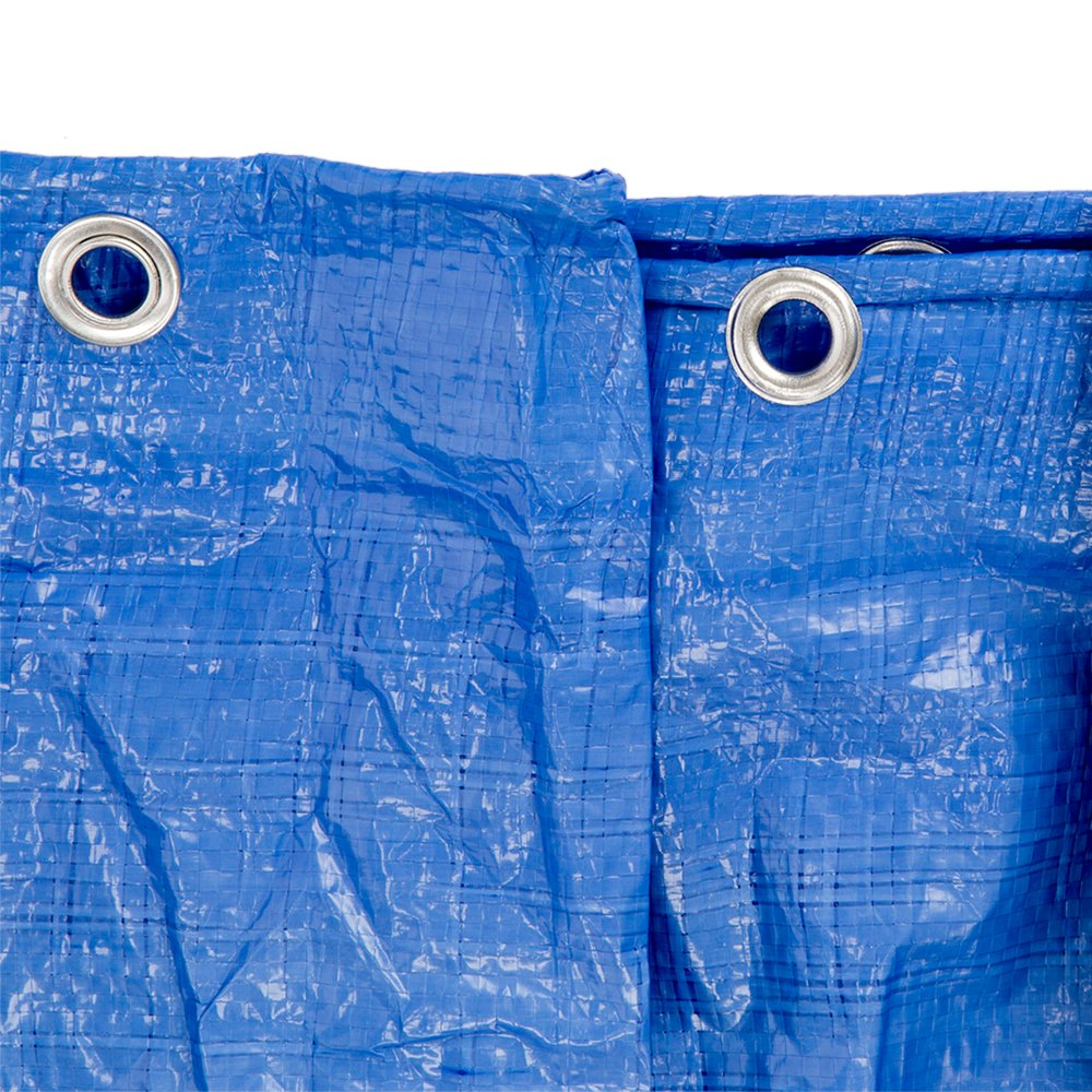 B-Air GTRP912 Grizzly Tarps 9 x 12 Feet Blue Multi Purpose Waterproof Poly Tarp Cover 5 Mil Thick 8 x 8 Weave by B-Air (Image #8)