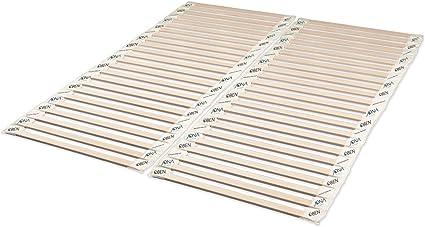JONA SLEEP Somier enrollable (140 x 200 cm), madera maciza de ...