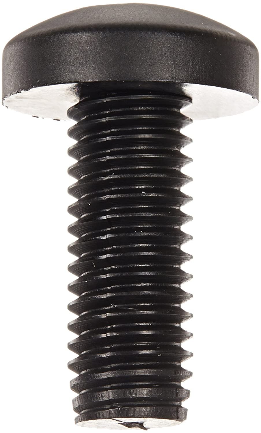Fully Threaded M10-1.5 Thread Size #4 Phillips Drive 25 mm Length USA Made Black Pack of 50 Nylon 6//6 Pan Head Machine Screw