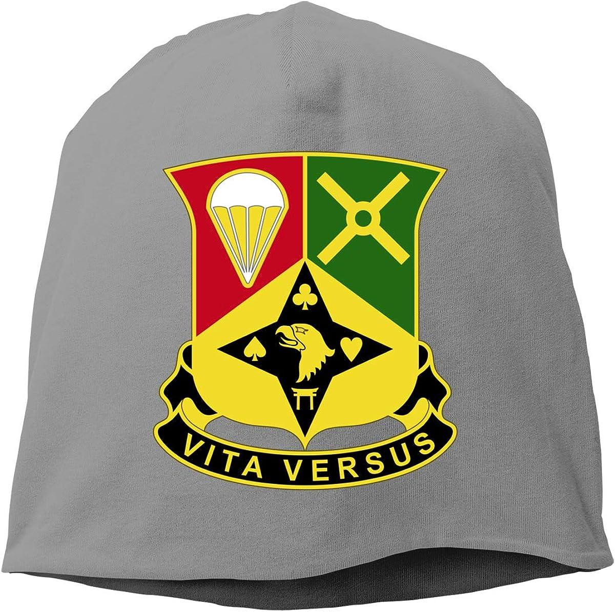 101st Airborne Division Iraq Combat Veteran Unisex Warm Winter Hat Knit Beanie Skull Cap Cuff Beanie Hat Winter Hats