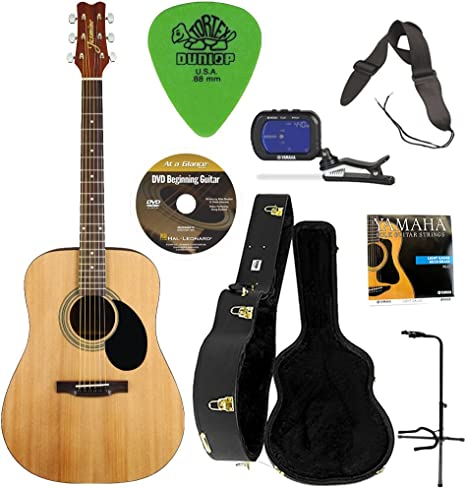 Jazmín S35 guitarra acústica (Natural) W/Knox carcasa Funda para ...