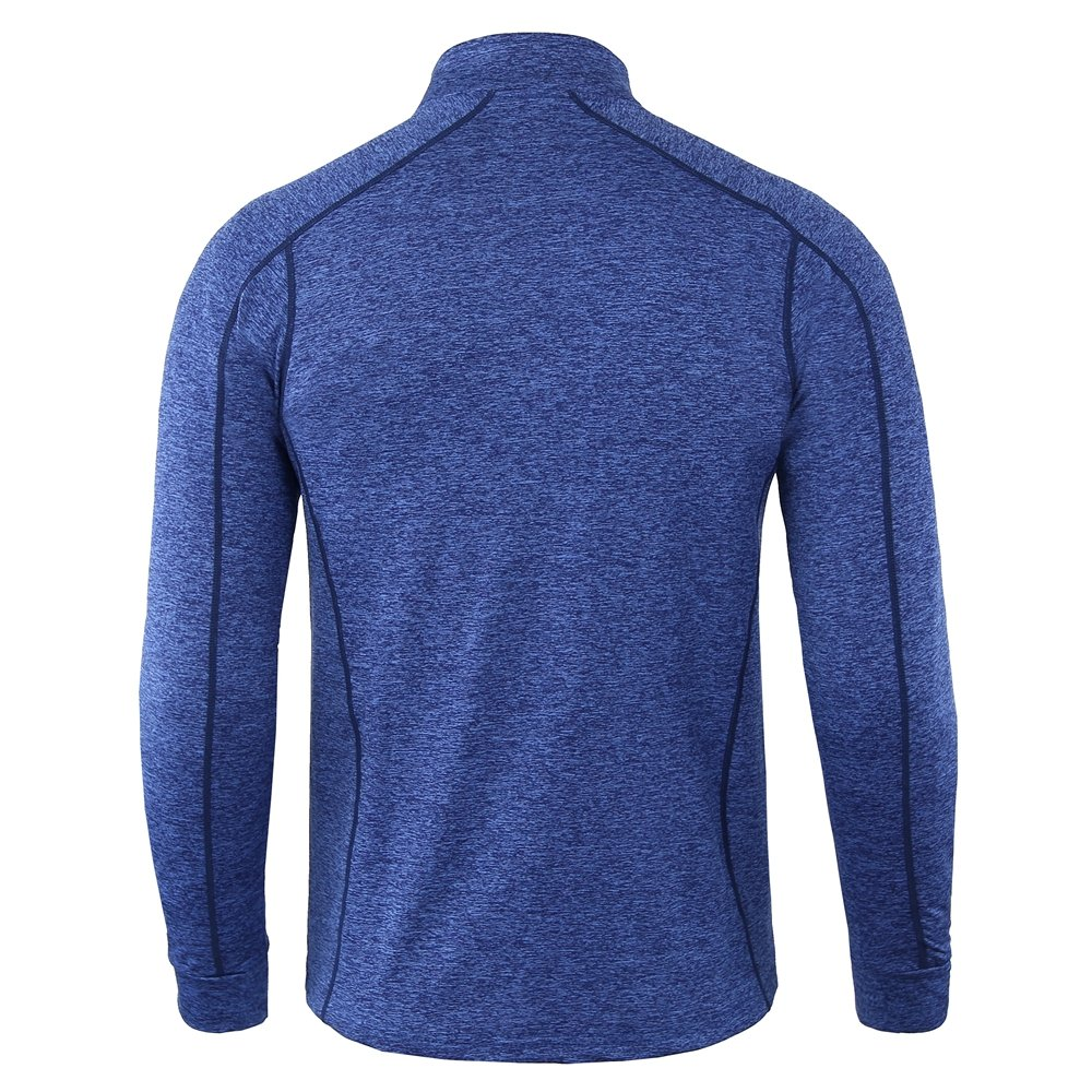 INFMETRY Men\'s 1/4 Zip Quick Dry Moisture Wicking Athletic Long Sleeve Shirts (S, Mako Blue)