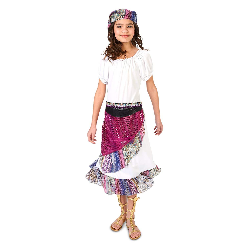 14-16 XL Zhangjiagang Leadtex Clothing Co Multi Color Boho Gypsy Child Costume