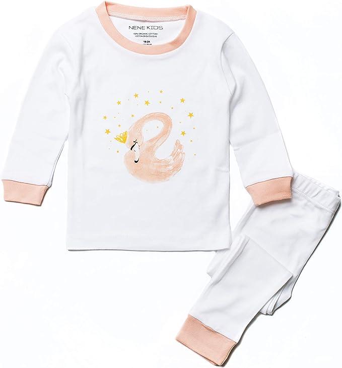 Juego de Pijama de 2 Piezas de algodón orgánico de Cisne Rosa para ...