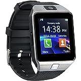 kxcd Bluetooth Smart Watch dz09 Smartwatch GSM SIM Karte mit Kamera für Android iOS (silver)