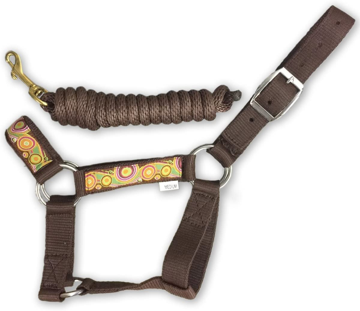 HalterUp Cute and Stylish Miniature Horse Halters and Lead Ropes (2 Item Bundle) Available in 10 Colors…A Great Fitting Halter That's Strong and Durable Yet Comfortable.
