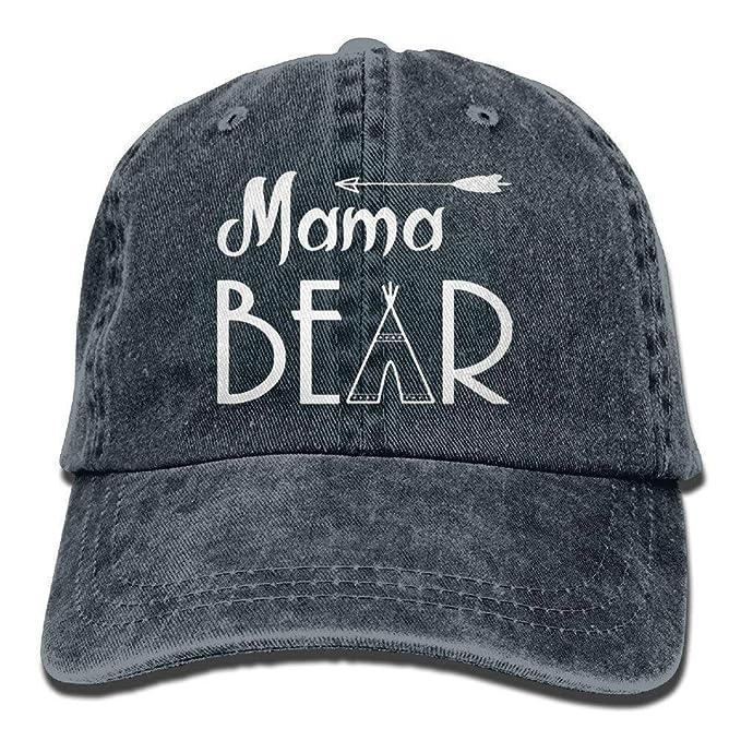 HX fashion Casquillo del Sombrero De Vaquero para Los Hombres Mujeres Tamaños  Cómodos Mama Bear Gorra De Béisbol Deporte Al Aire Libre Cap Carta Bordado  Cap ... d3b278118bf