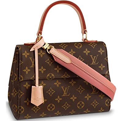 d3efe4f76d Louis Vuitton Monogram Canvas Cluny BB Top Handles Handbag Pink Article:  M44267 Made in France