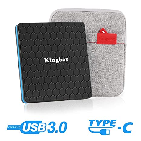 Kingbox External DVD Drive, Portable USB 3 0 Type-C CD/DVD Rewriter Burner  Drive for Laptop Desktop PC Computer Windows Linux OS Apple Mac MacBook Pro