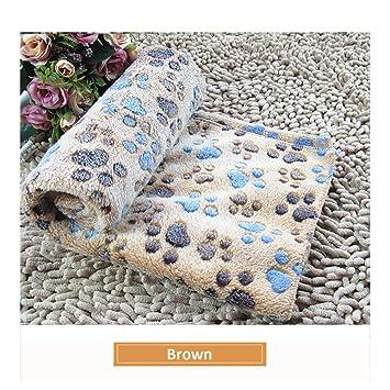 Kry mascota mantas para perros gatos natural suave franela Sleep Mat lavable cachorro de perro durmiendo cama fundas de huellas de forro polar manta: ...
