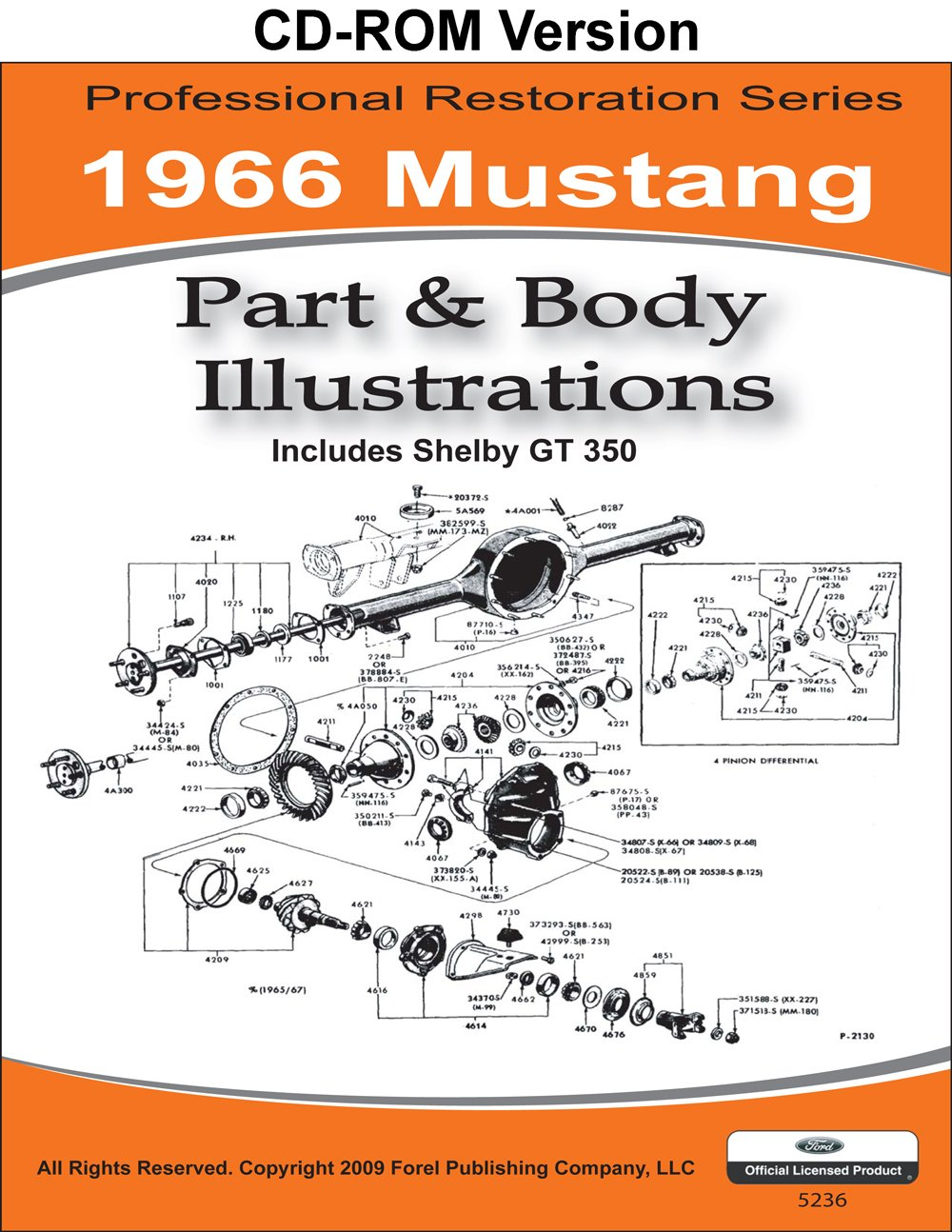 1966 Mustang Part And Body Illustrations Ford Motor Company David Accessories Electrical Wiring Diagrams Of All E Leblanc 9781603710343 Books