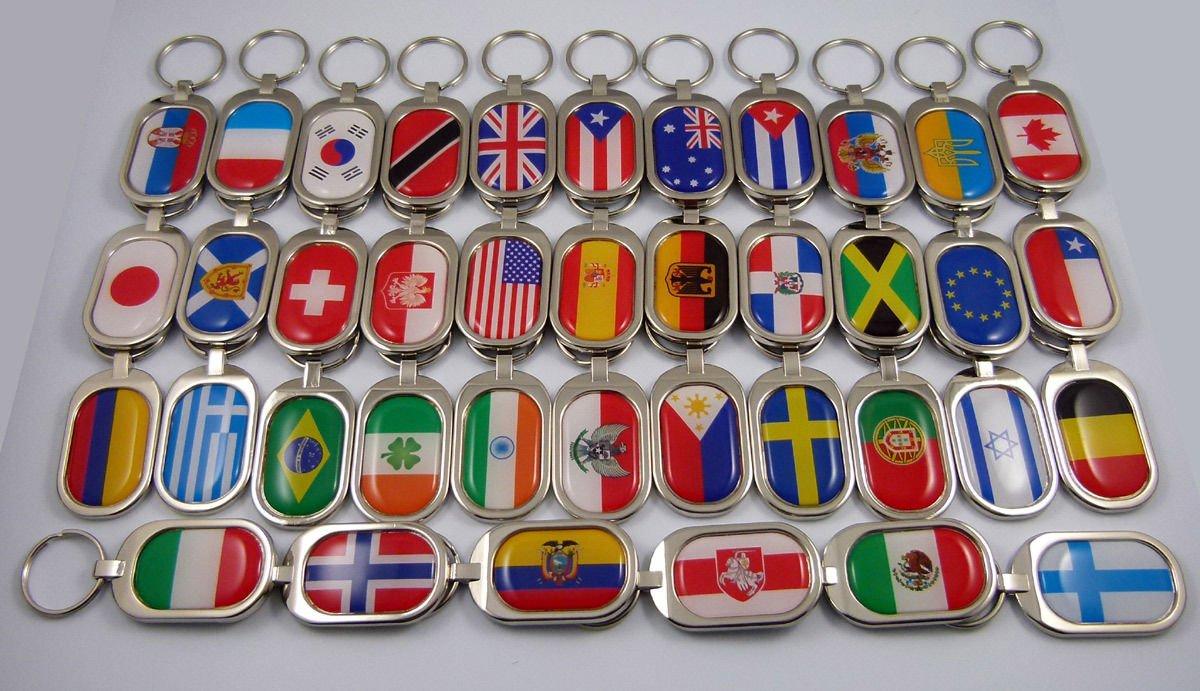 Greece Flag Key Chain Metal Chrome Plated Keychain Key fob keyfob Greek Car Chrome Decals