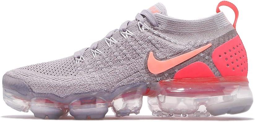 sucesor Hacer deporte Halar  Amazon.com: Nike Air Vapormax Flyknit 2 Zapatillas de running para mujer  (7, gris/rosa): Shoes