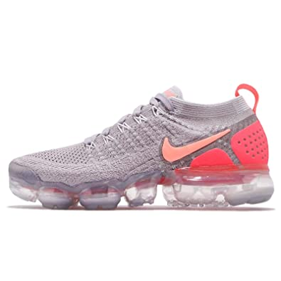 4338c8ed860de Nike Women's Air Vapormax Flyknit 2 Running Shoes (7, Grey/Pink)