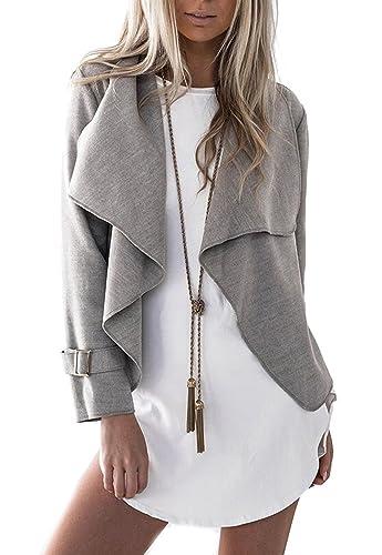 Popglory - Chaqueta - para mujer gris gris XL