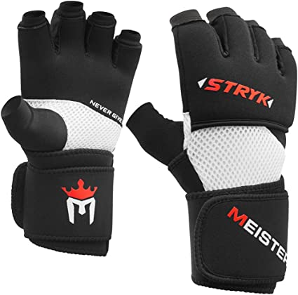 MEISTER PADDED PROWRAPS Inner Hand Wraps Gloves MMA Boxing Wrist Fight PAIR