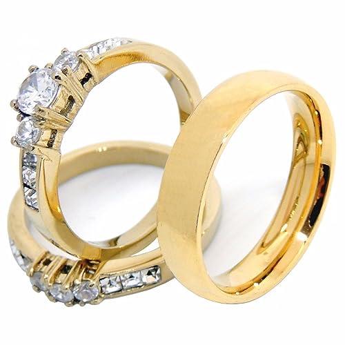 52be0b61e4d5 7 sets de anillos de boda más vendidos en Amazon para él y ella | La ...