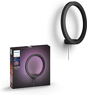 Philips Hue Sana - Aplique redondo con LED Integrado, negro ...