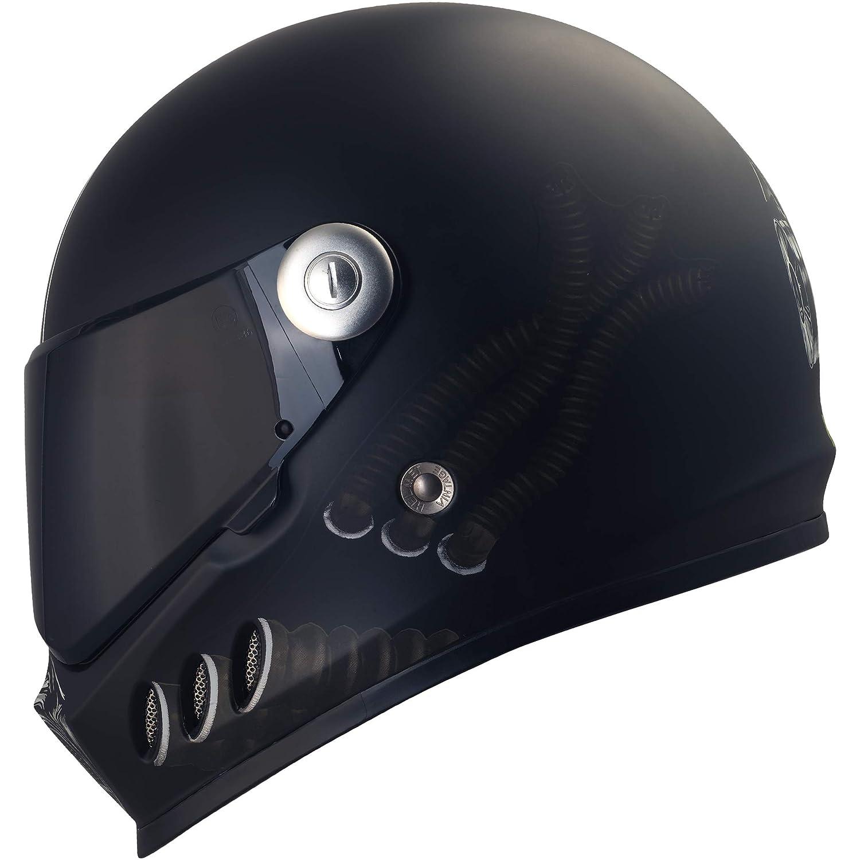 Broken Head Gas Man | Motorrad-Helm incl. schwarzem Visier | der Helm fü r Dein Naked-Bike, Deinen Fighter-Umbau oder Chopper (XL 61-62 cm)