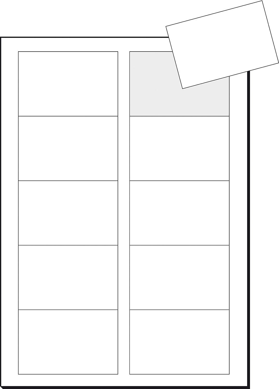 für InkJet 85x55 mm für InkJet 100 Stück glatter Schnitt 10 Blatt 100 Stück 10 Blatt Sigel IP532 Visitenkarten mit Leinen-Struktur