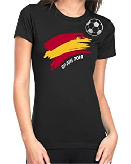 Spain Football 2018 T-shirt For Womens Soccer Gift Short Sleeve