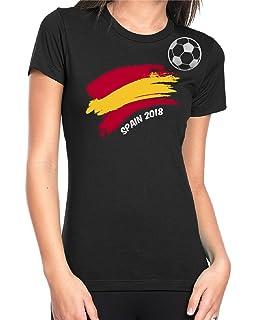 Spain Football 2018 T-shirt For Womens Soccer Gift Short Sleeve