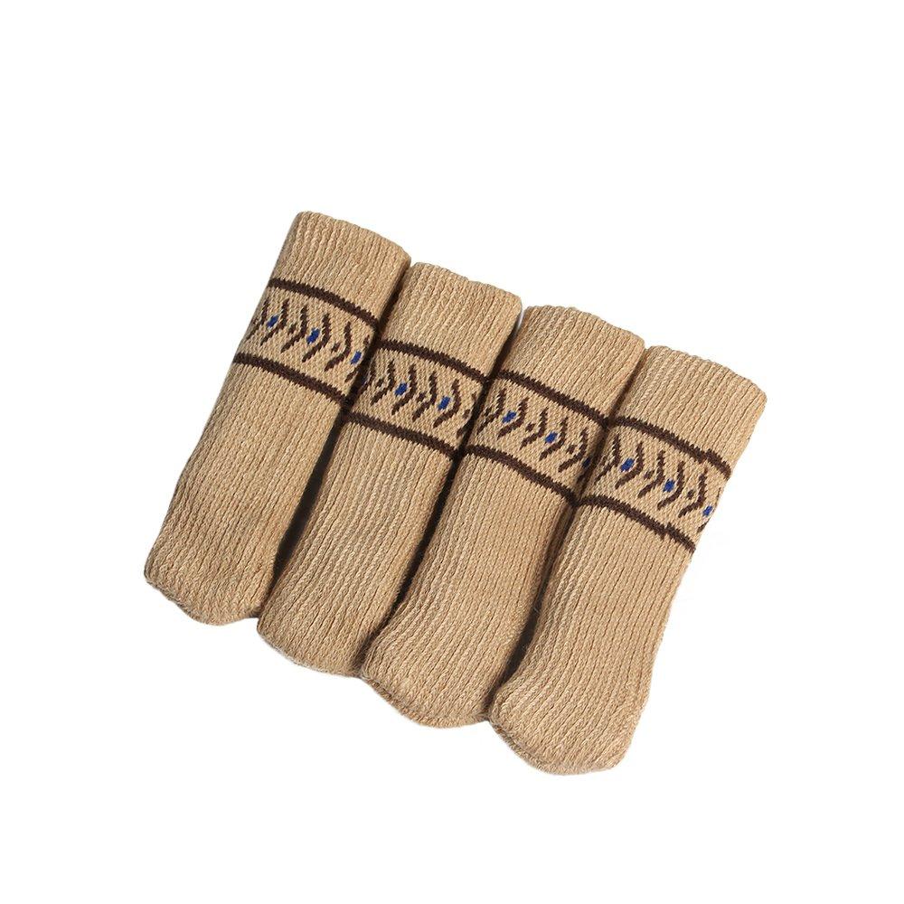 24pcs Chair Leg Furniture Knitted Socks, Floor Protectors Non-slip Table Legs Sleeve Cover Ya Jin
