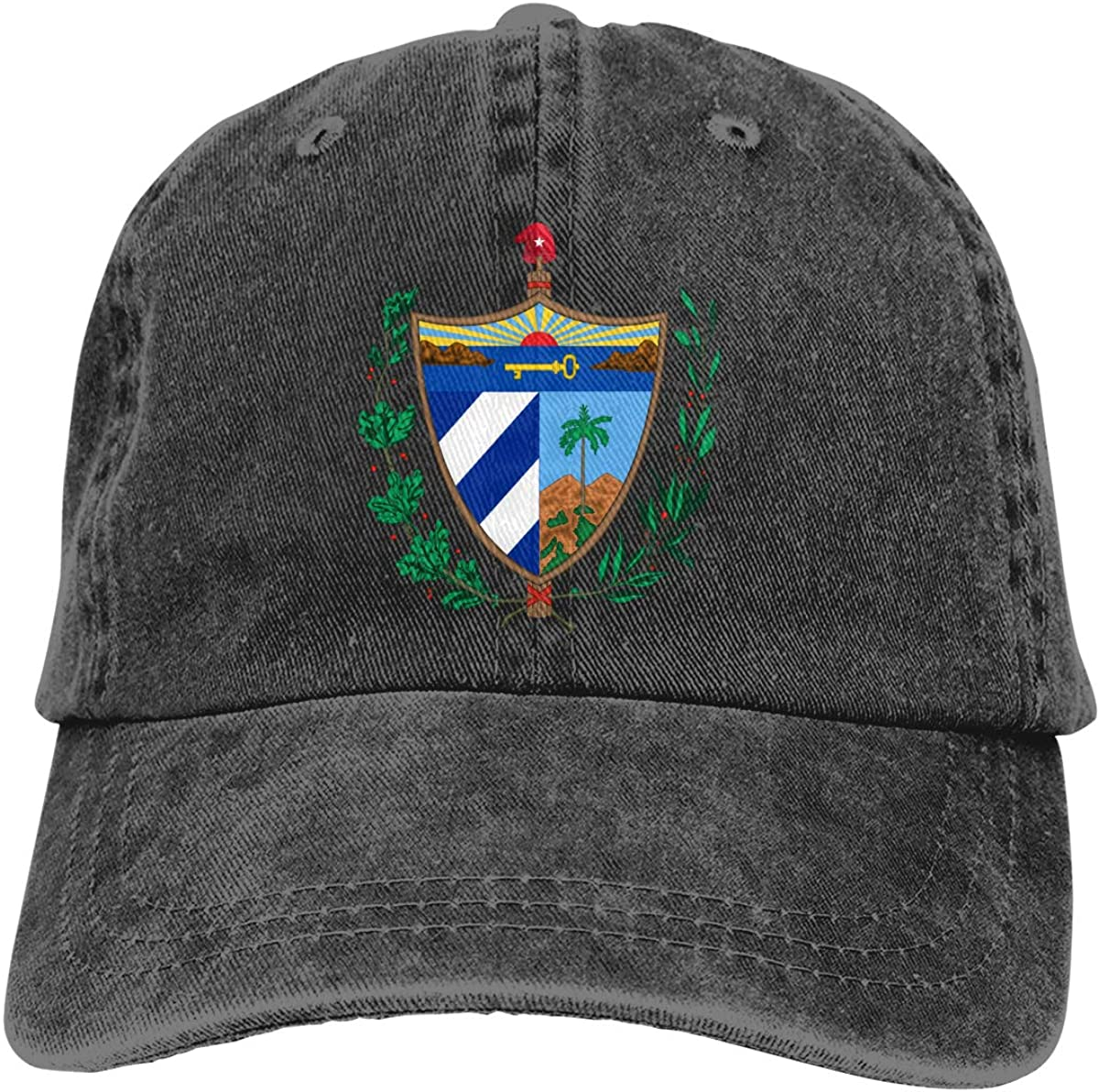 Best4U/&Me Men Women Coat of Arms of Cuba Vintage Washed Dad Hat Popular Adjustable Baseball Cap