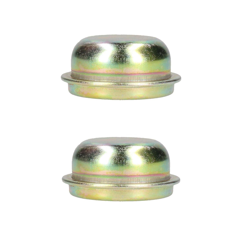 AB Tools-Maypole Replacement 50.5mm Metal Cap Wheel Hub Trailer Bearing Dust Cover 2 Pack