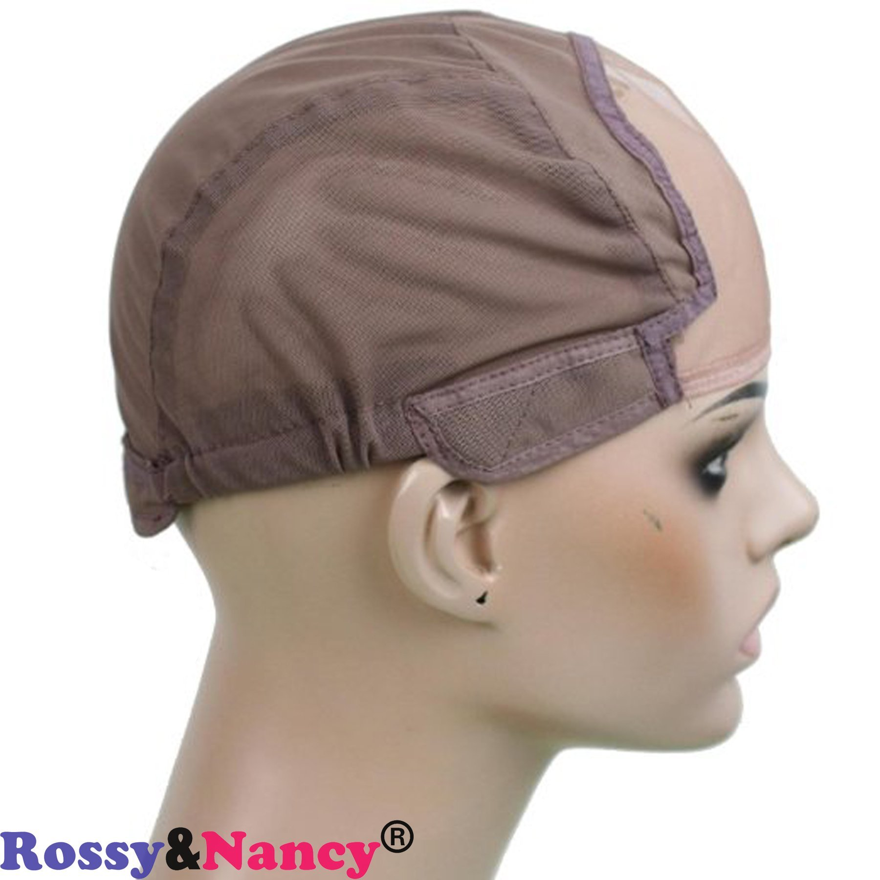 Rossy&Nancy Best Gluess Silk Swiss Lace Net Ear to ear stretch wig caps with adjustable straps for making Wigs by Rossy&Nancy (Image #4)