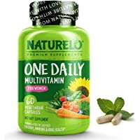 NATURELO One Daily Multivitamin for Women - Energy Support - Whole Food Supplement to Nourish Hair, Skin, Nails - Non…