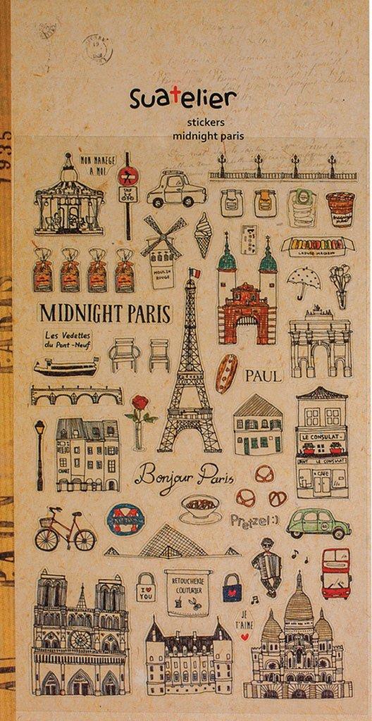 1 arco con 56 piccole Parigi Francia adesivi adesivi, Tags im Vintage Look nostalgico, Sticker Taglia zw. 0,5 e 4,5 cm, country 5e 4 5cm Jeanette Dietl