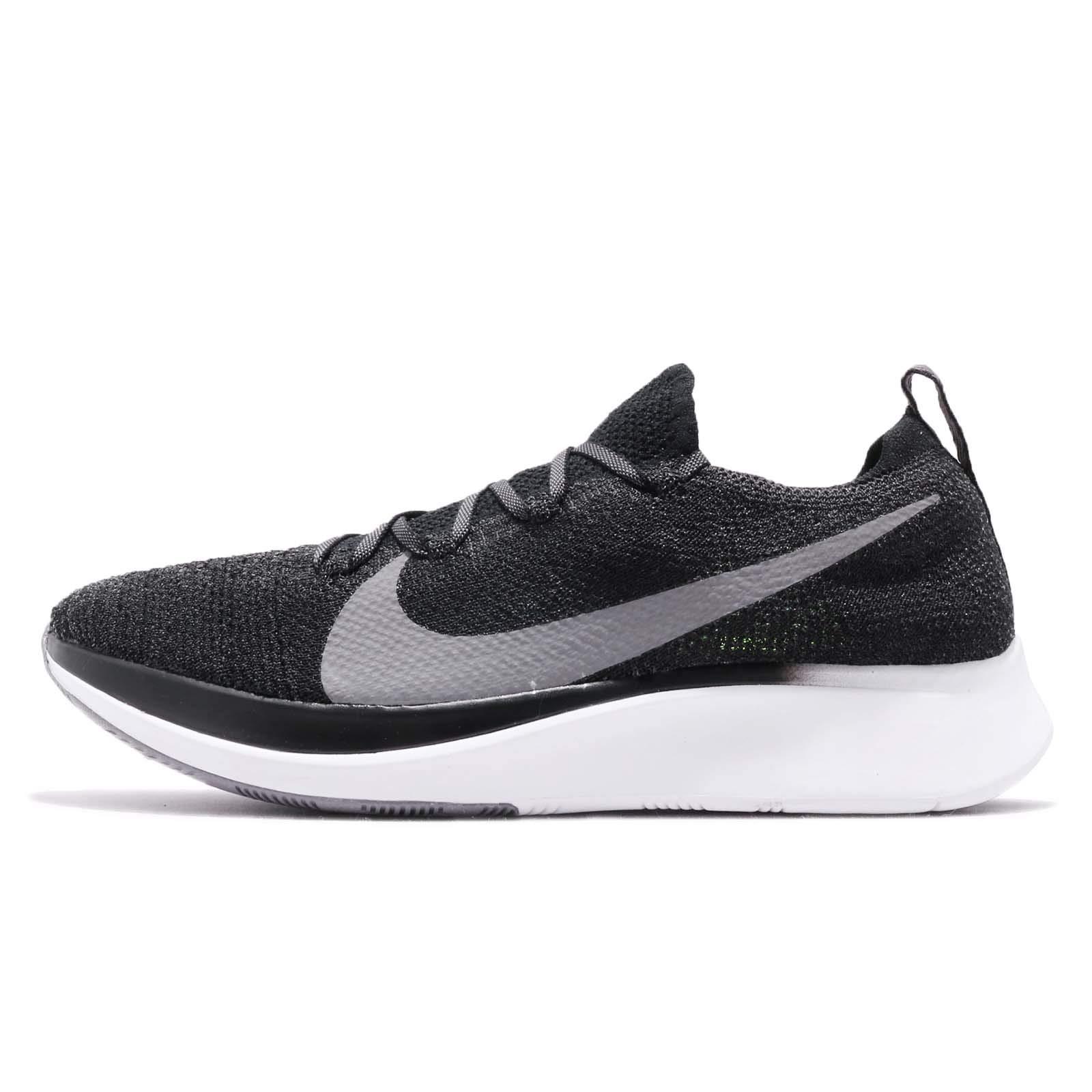 Nike Zoom Fly Flyknit Men's Running Shoe Black/Gunsmoke-White Size 7.5