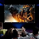 RELEE 100 inch Projector Screen 16:9 HD Foldable