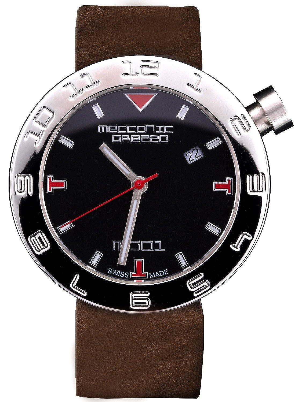 [メカニカグレッザ] MECCANICA GREZZA MG01 38L BK-DB ダークブラウン イタリアンデザイン レディース腕時計 [正規輸入品] [時計] B073WY7X1W