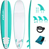 Wavestorm-15th Anniversary Edition Soft Top Foam 8ft Surfboard | Surfboard for Beginners and All Surfing Levels | Complete Bo