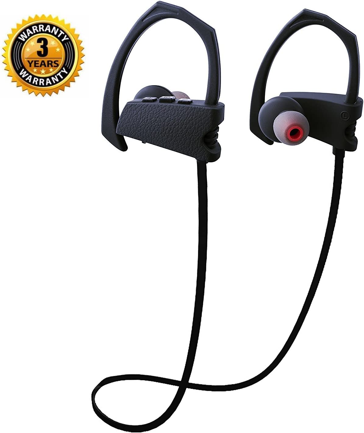 Amazon Com Bluetooth Headphones Wireless Earphones Ipx5 Waterproof Heavy Bass Hd Stereo Earbuds With Mic Noise Isolated Headsets For Iphone7 S7 Ipad Good Choice For Music Lover