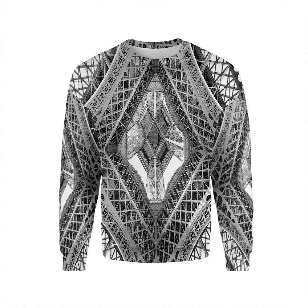 iPrint Men's, Black and White, Crewneck Sweatshirt-Unisex iPrint Men' s HongKong Fudan Investment Co. Limited Crewneck Sweatshirt-022135