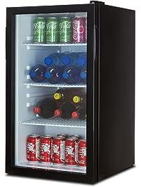Captivating Della Beverage Refrigerator Cooler Compact Mini Bar Fridge Beer Soda Pop  Reversible Glass Door, Black