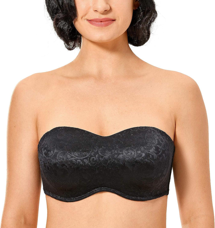 Womens Bandeau Bra Bra Bras Strapless Top with Lace Size XS-L 1620