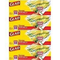 Glad Zipper Food Storage Plastic Bags - Gallon - 50 Count - 4 Pack