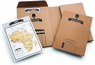 Luckies of London Travelogue Diario de viaje, edición original, interactivo, con páginas rascables, Original, Una talla