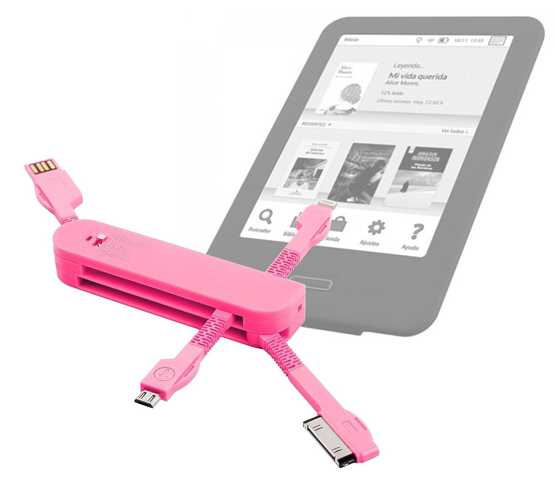 DURAGADGET Multi-Cargador Rosa para eReader Energy Sistem eReader ...