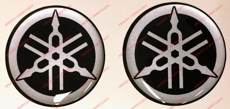 Adesivi Compulsivi - Adhesivos resinados con el emblema/logotipo de Harley Davidson con efecto 3DColor: negro + plateado.Para depó sito o casco.